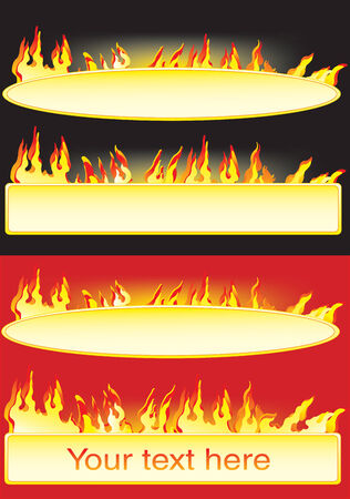 Vector illustration for Banners with the flame Stock Vector - 5104741