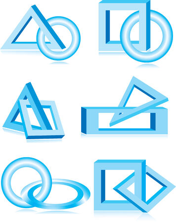 Vector illustration of blue design elements Vector