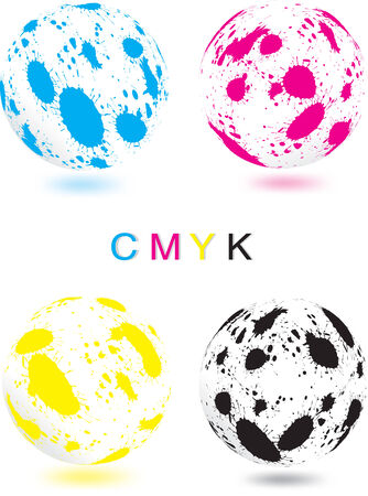 Vector illustration of abstract CMYK sphere