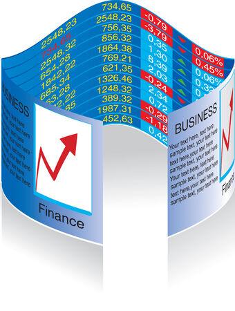 Vector illustration for business graph Illustration