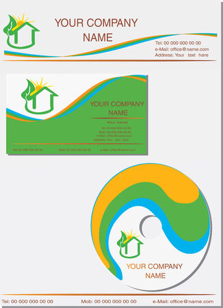 Vector illustration for business identity template