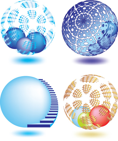 Vector illustration of abstract sphere