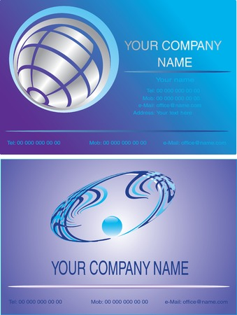 Vector illustration for business cards Vector