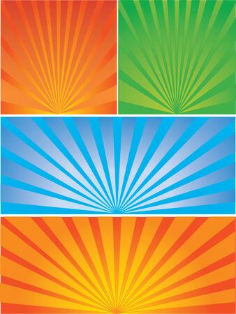 Vector illustration for diferent starburst