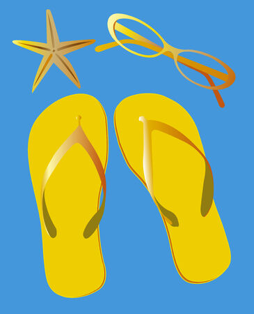 footware: Summertime background
