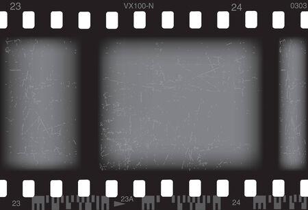 Vector illustration for old grunge photo film