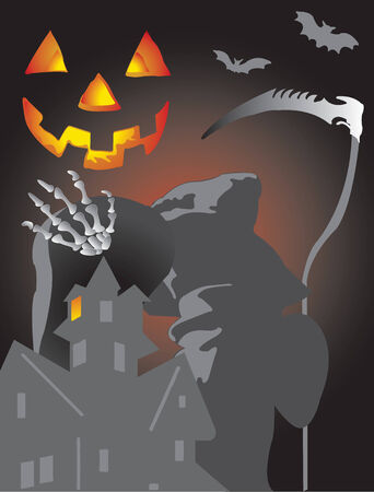 Vector illustration for halloween background Stock Vector - 5360286