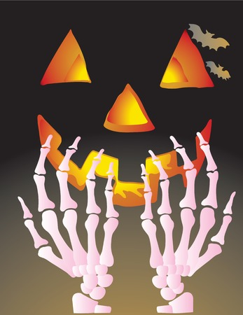 Abstract vector illustration for halloween  Vector