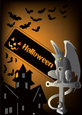 Vector illustration for Halloween background with a place for your text Stock Vector - 5385583