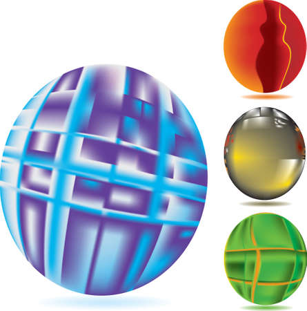 Vector illustration for abstract mesh sphere Stock Vector - 5408337