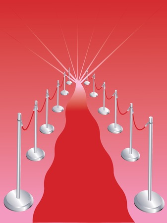 Vector llustration for abstract  red carpet