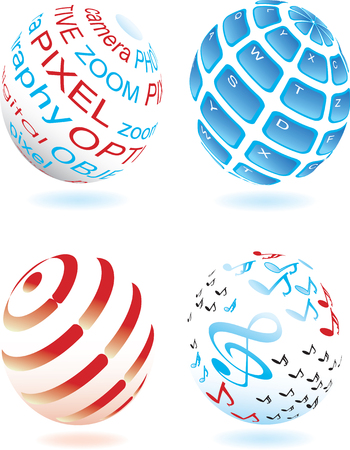 Vector illustration for different sphere Stock Vector - 5408318