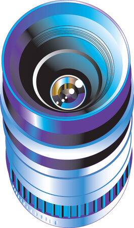 Vector illustration of objective lens for digital photo camera Illustration