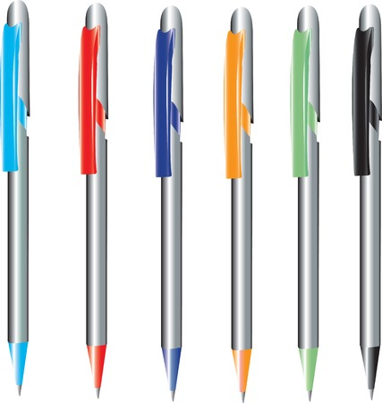 Vector illustration for pens in different colours Stock Vector - 5408314