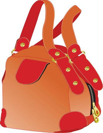 Vector illustration of red handbag Stock Vector - 5408327