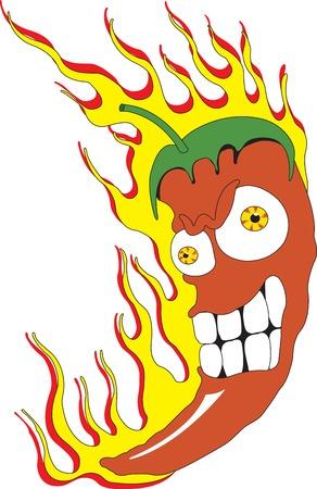 Ilustración vectorial de chiles rojos  Vectores