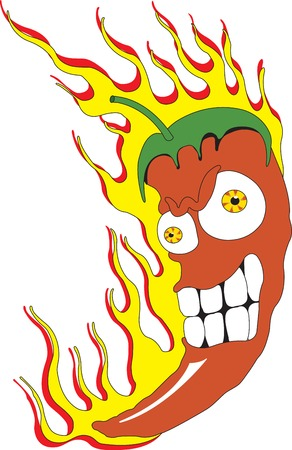 Vector illustration of red chili peppers Illustration