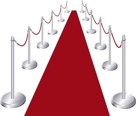 Vector illustration of red carpet entrance
