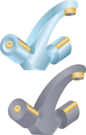 stopcock: Vector illustration of two different faucets