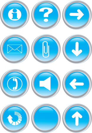 Vector illustration of blue icon