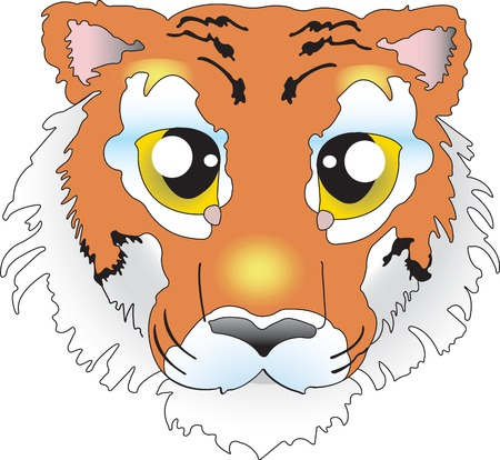 Vector illustration for Tiger isolated on white background Vector