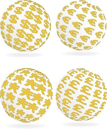 Vector illustration for money sign sphere Stock Vector - 5408326