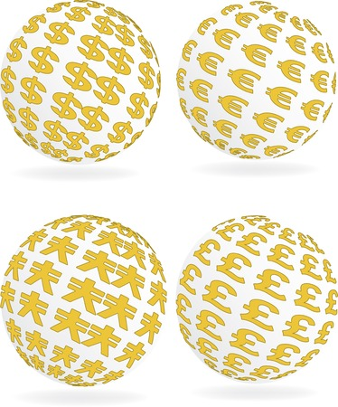Vector illustration for money sign sphere Illustration