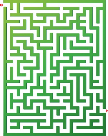 brainteaser: Vector illustration of maze