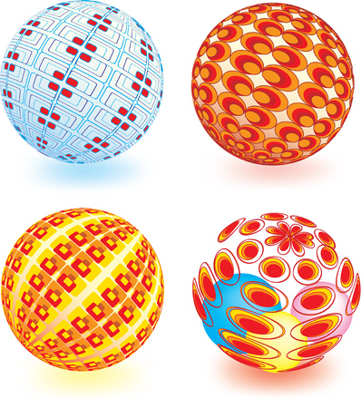 Abstract vector illustration of a sphere with retro elements Stock Vector - 5486644