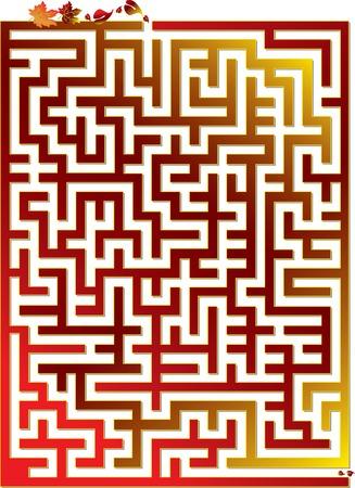 Vector illustration for autumn maze Illustration