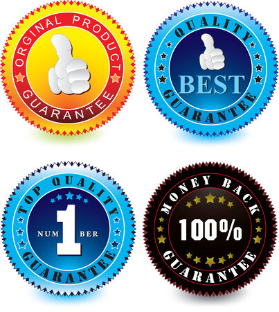 Vector set of guarantee label isolated on a white background Illustration