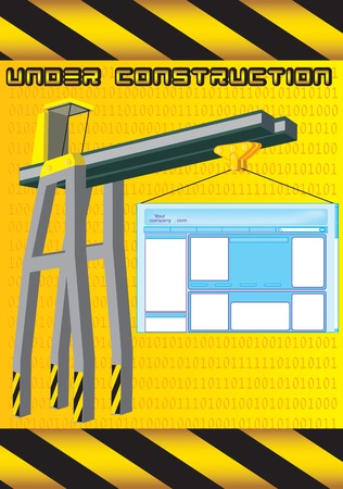 constructing: Vector illustration for Website under construction