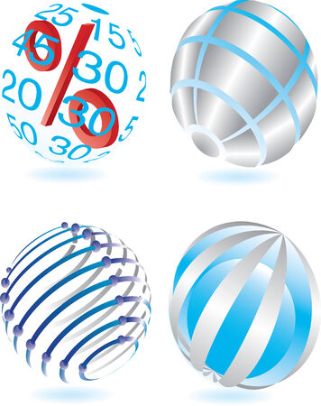 Vector illustration for different sphere Vector