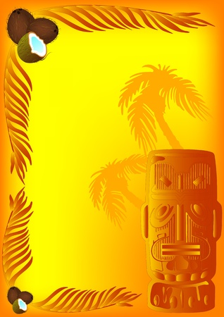 tiki party: Exotic background for your cocktail party in vector format