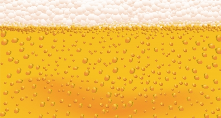 Background of Beer Bubbles in a vector format  Vector