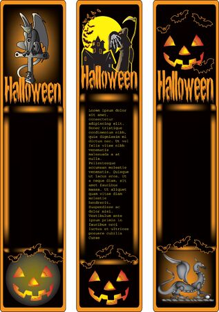 Halloween banner in vector format with text on the new layer  Easy to remove Stock Vector - 15405147