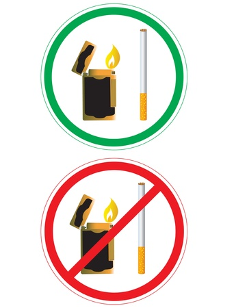 Sticker with no smoking sign Vector