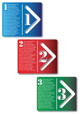 Next Step Arrow Boxes in vector format.Sample text is in separate layer