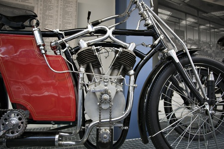 horsepower: Detail of an old motorcycle engine
