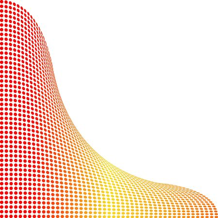 background points, red-yellow Illustration