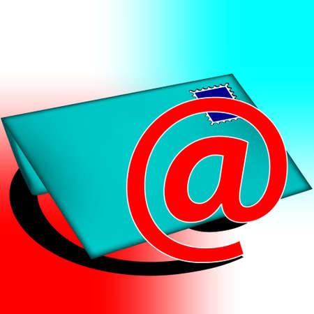 Lettera blu Vettoriali