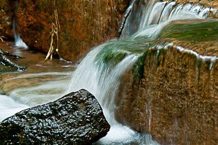 Small romantic waterfall Stock Photo