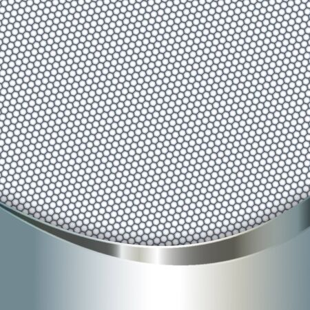 Metal background with mesh, Carbon