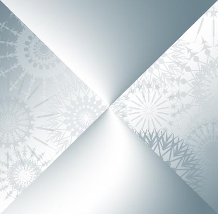 Scheda con i fiocchi di neve Archivio Fotografico