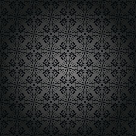 Pattern, wallpaper in antique black Illustration