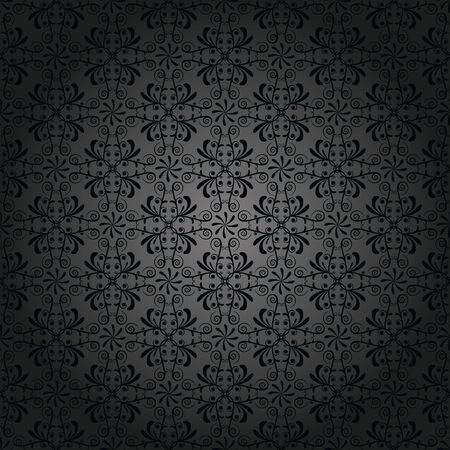 Pattern, wallpaper in antique black Illustration