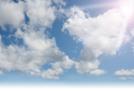 Sky, clouds, sunshine Stock Photo
