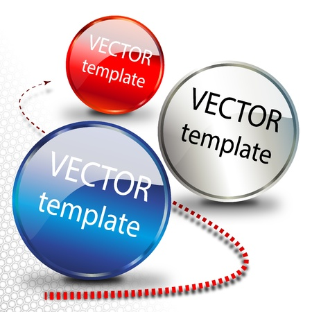 208_Button chrome elements Vector