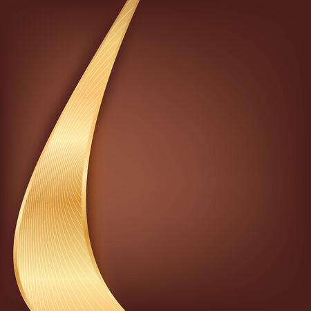 Gold on brown background Illustration
