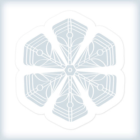 Snowflake in Retro Style